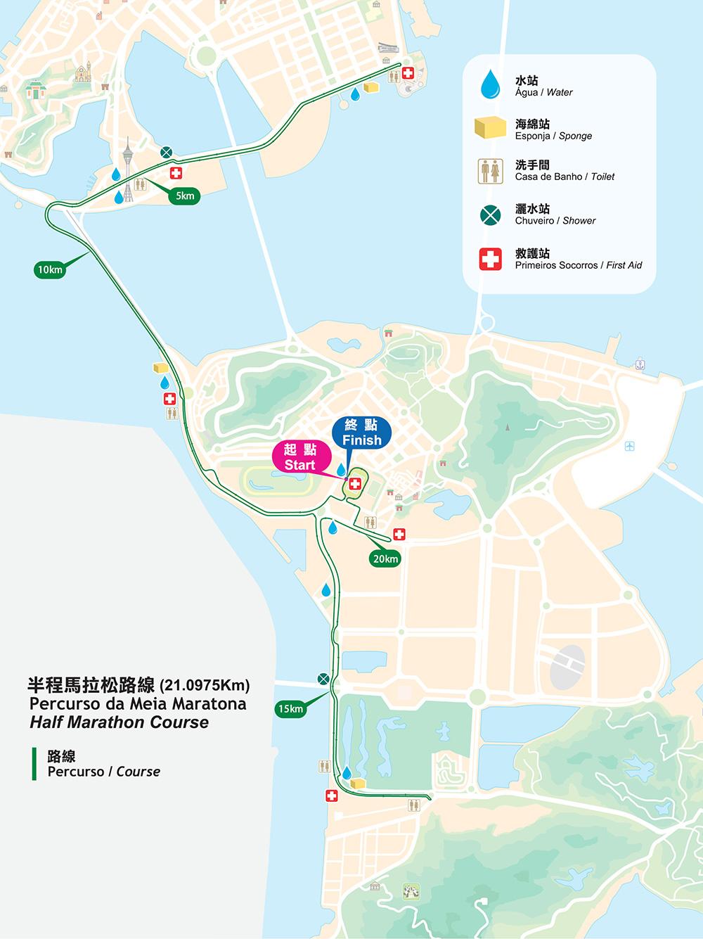 Macau Half Marathon Course BE  IRONMAN  CHICAGO Marathon - Chicago marathon map 2016